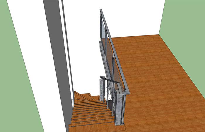 Villa interieur trap & kasten