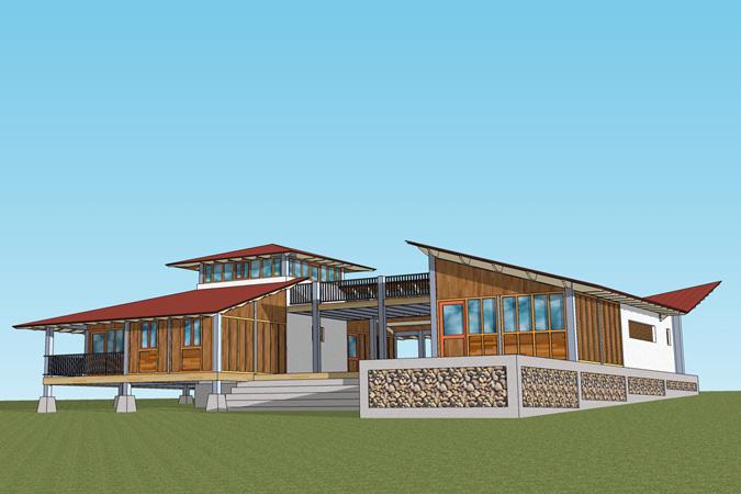 Een huis voor mijn vader - Huis exterieur model ...