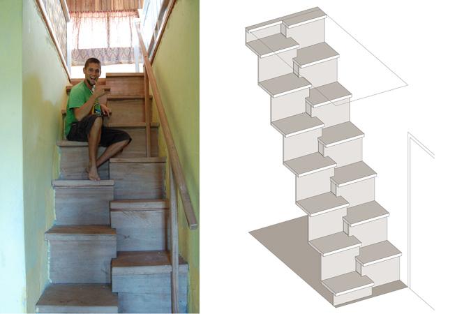 Een huis voor mijn vader - Interieur ontwerp trap ...